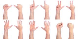 comptant des mains mâles Image libre de droits