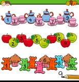 Compte à l'activité dix pour les enfants préscolaires illustration stock