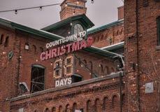 Compte à rebours à Noël à Toronto, Canada Photo stock