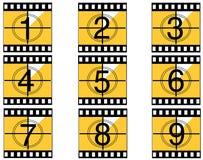 Compte à rebours 01 de film Images libres de droits
