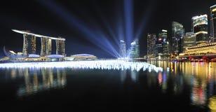Compte à rebours 2010/2011 de Singapour Images stock