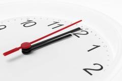 Compte à rebours d'horloge au minuit images libres de droits