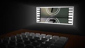 Compte à rebours dans un cinéma illustration libre de droits