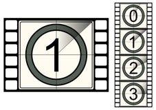Compte à rebours de bande de film Image libre de droits