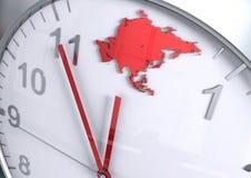 Compte à rebours de continent de l'Asie illustration stock
