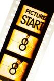 Compte à rebours de film de cinéma Photographie stock libre de droits