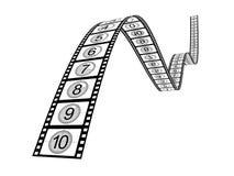 Compte à rebours de Filmstrip Photos libres de droits