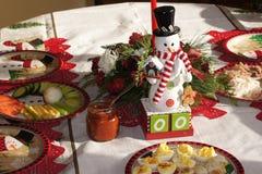 Compte à rebours de Noël de bonhomme de neige montré aux jours zéro photos stock