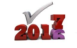 2017 - Compte à rebours de nouvelle année Illustration Stock
