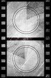 Compte à rebours grunge de film dans la couleur foncée Photographie stock libre de droits