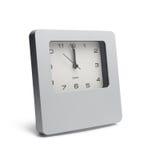 Compte à rebours par la montre d'isolement sur le fond blanc Photographie stock libre de droits