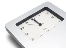 Compte à rebours par la montre d'isolement sur le fond blanc Images libres de droits
