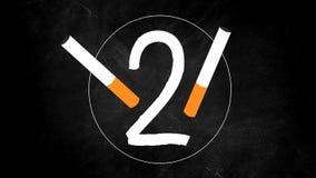 Compte à rebours pour les cigarettes non-fumeurs banque de vidéos
