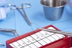 Compte chirurgical d'aiguille Image libre de droits