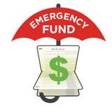 Compte d'épargne d'épargnes du fonds de secours Photos libres de droits