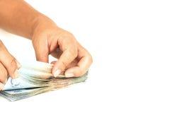 Compte d'argent liquide Photo libre de droits