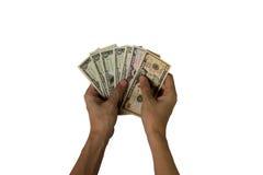 Compte de dollars US sur un fond blanc photographie stock libre de droits