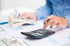 Compte de l'argent Image stock