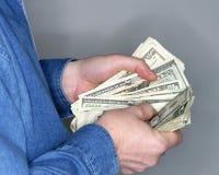 Compte de l'argent comptant Photos stock