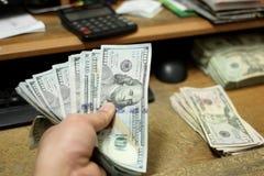 Compte de l'argent comptant Photographie stock