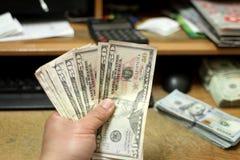 Compte de l'argent comptant Photo stock