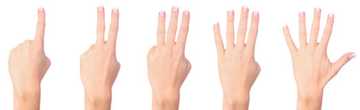 compte de la femme de mains Photo libre de droits