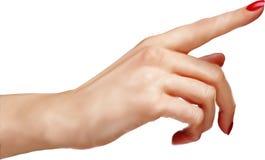 Compte de main Doigt plat et nombre d'isolement sur le fond blanc Photo libre de droits