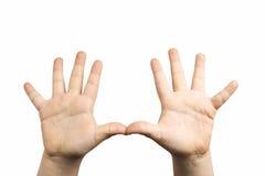 Compte de mains Photos libres de droits