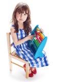 Compte de petite fille photographie stock