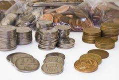 compte de pièces de monnaie Photos stock