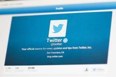 Compte de Twitter Image libre de droits