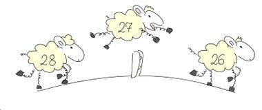 Compte des moutons. Photographie stock libre de droits
