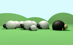 Compte des moutons Photos stock