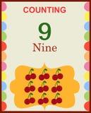 Compte des numéros 9 illustration de vecteur