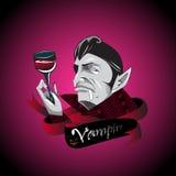 Compte Dracula de dessin animé Illustration Libre de Droits