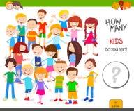Compte du jeu éducatif d'enfants de bande dessinée illustration stock