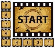 Compte à rebours de film Photo libre de droits