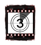Compte à rebours de film au NO3 Photos stock