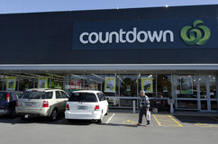 Compte à rebours - supermarché Photos stock