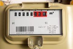 Compteur à gaz photo stock