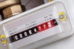 Compteur à gaz. image stock