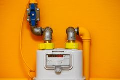 Compteur à gaz image stock