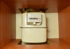 Compteur à gaz de ménage dans la maison image libre de droits