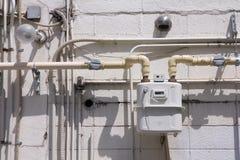 Compteur à gaz normal image libre de droits