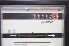 Compteur électrique Photos stock