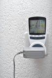 Compteur d'électricité de Digital Photos stock