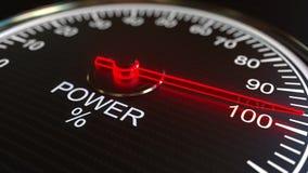 Compteur d'électricité ou indicateur rendu 3d Photographie stock libre de droits