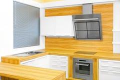 Compteur de cuisine en bois Images stock