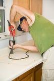 Compteur de formica de Sawing Image libre de droits