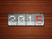 Compteur de la nouvelle année 2015 Photographie stock libre de droits